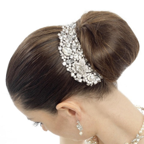 Paige Crystal Hair Comb Available in Gold, Silver & Rose Gold