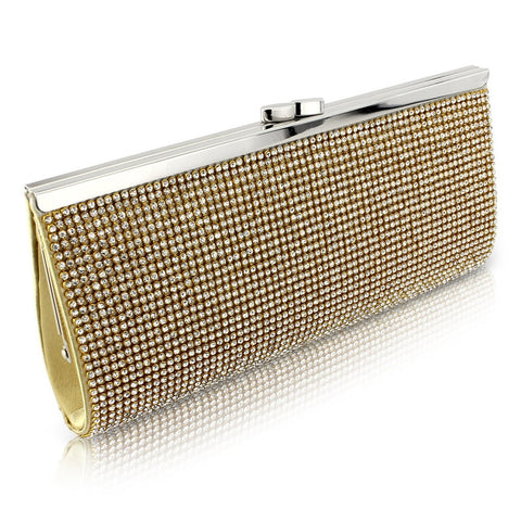 Charlotte Crystal Clutch Bag - Gold