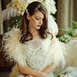 SassB Erin Ostrich Feather Shrug