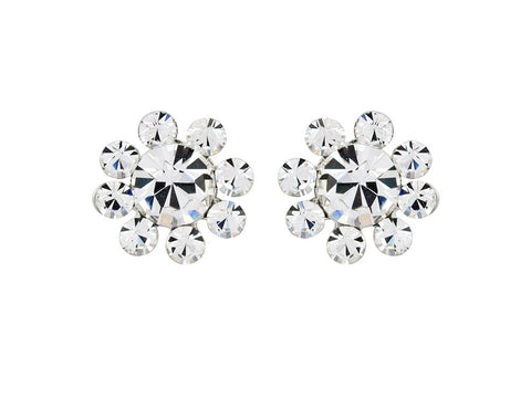 Kara Crystal Flower Earrings