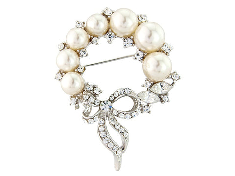 Ianthe Crystal and Pearl Brooch