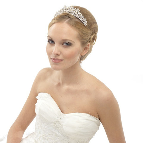 Lucia Crystal and Pearl Tiara