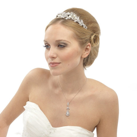 Sophia Crystal and Pearl Tiara