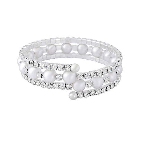 Bea Crystal and Pearl Bracelet