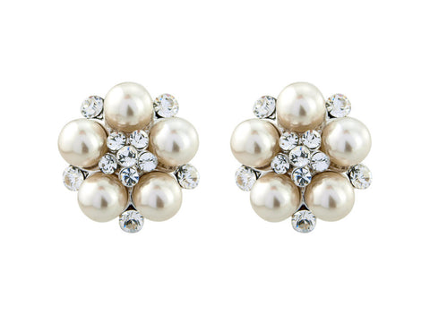 Georgia Pearl and Crystal Earrings