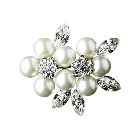 Larissa Crystal and Pearl Brooch