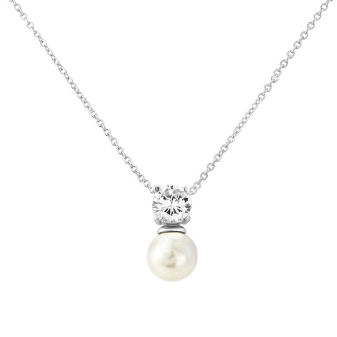 Suki Crystal and Pearl Necklace