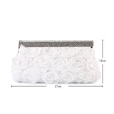 Snow White Rose Evening Clutch Bag