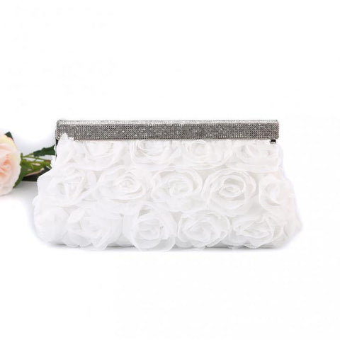 'Snow White Rose' Evening Clutch Bag