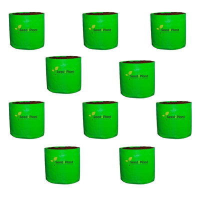 HDPE Round Grow Bag - 12x12 Inches (1x1 Ft) (Pack of 10) - 220 GSM