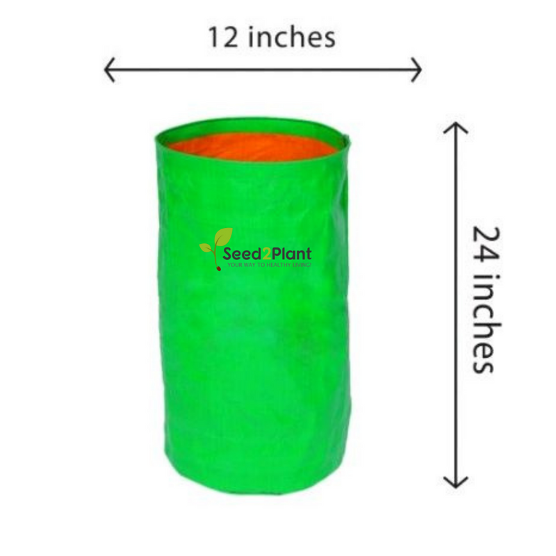HDPE Round Grow Bag - 12x24 Inches (1x2 Ft) - 220 GSM