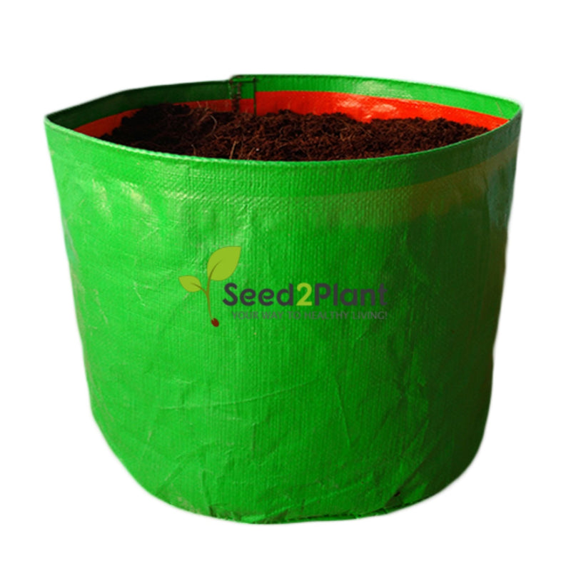HDPE Round Grow Bag - 15x12 Inches (1¼x1 Ft) - 220 GSM
