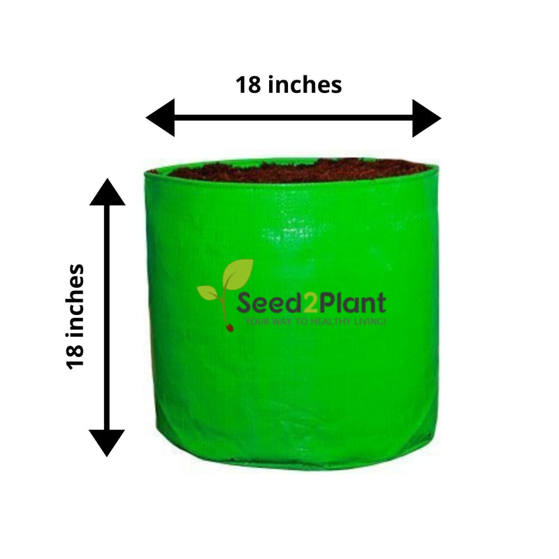 HDPE Round Grow Bag - 18x18 Inches (1½x1½ Ft) (Pack of 4) - 220 GSM