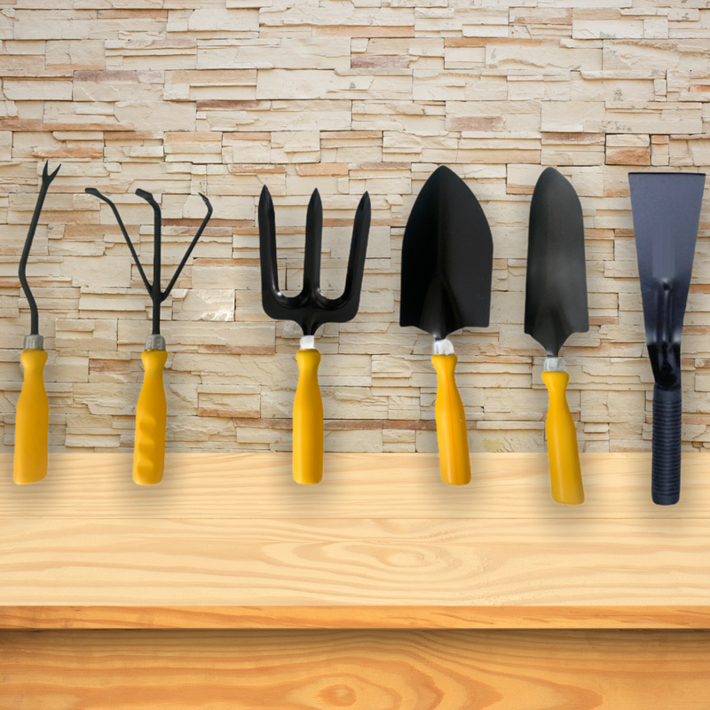 Gardening Tools - Set of 6 - Yellow