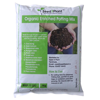 Potting Mix - 100% Organic with 8 Fertilizers and 4 Beneficial Microbes