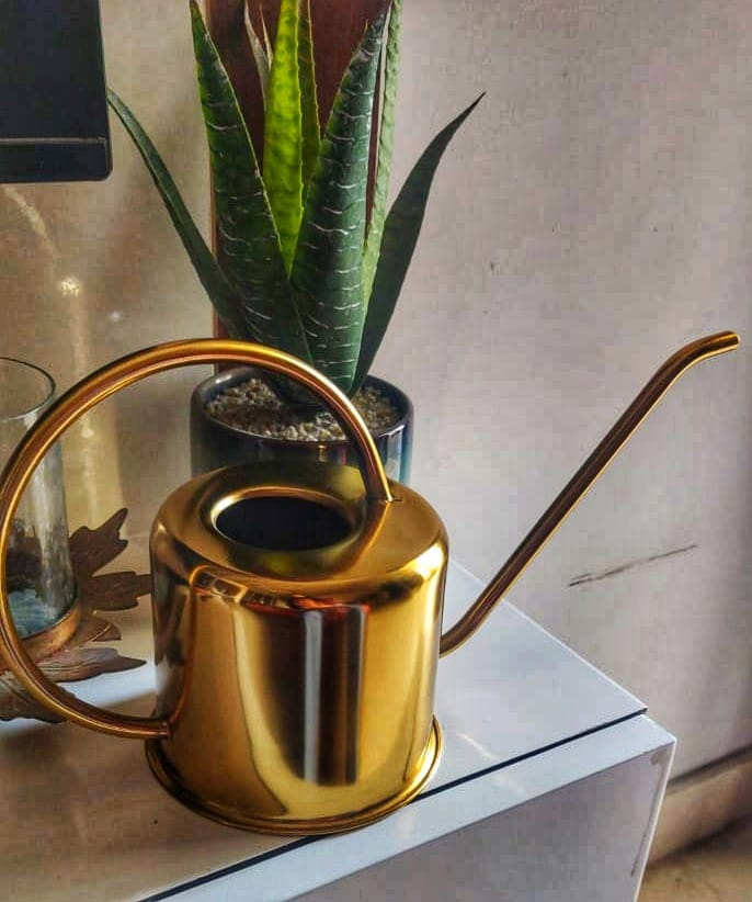 Metal Watering Can - Gold Colour