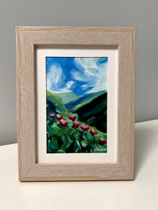"4"" x 6"" ""Swiss Valley"" frame Oil on Paper"