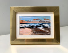 "Load image into Gallery viewer, ""Wailea Sunset"" 4"" x 6"" framed Acrylic on paper"