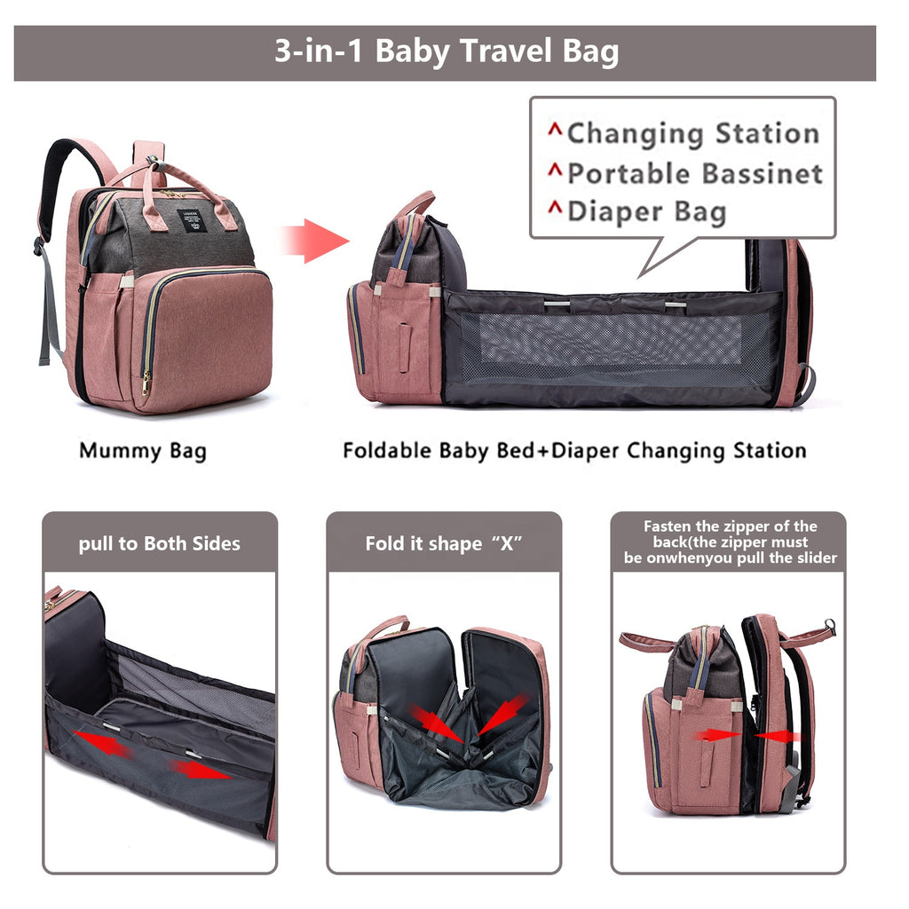 3 In 1 Multi-Function Baby Diaper Bag