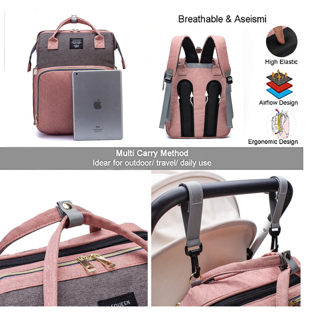 Multi-Purpose 3 In 1 Diaper Bag For Sale