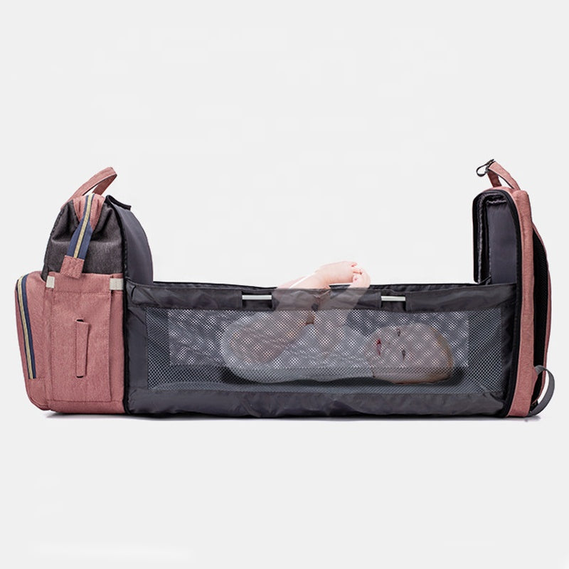 3 in 1 Multi-function Baby Diaper Bag——Perfect Combination of Diaper Bag & Baby Bed