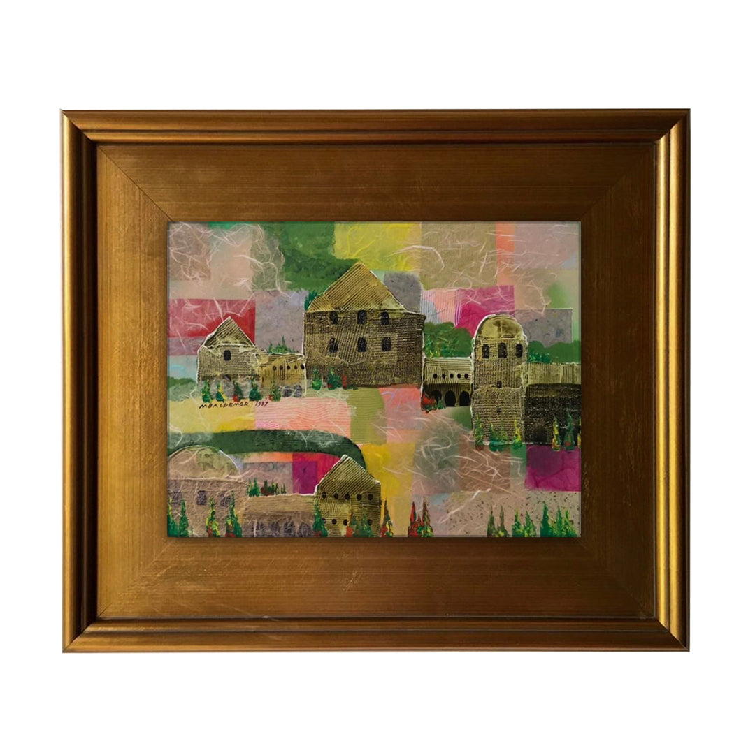 "MANUEL BALDEMOR - ""Old European Village"" - (12"" x 16"" Canvas)"