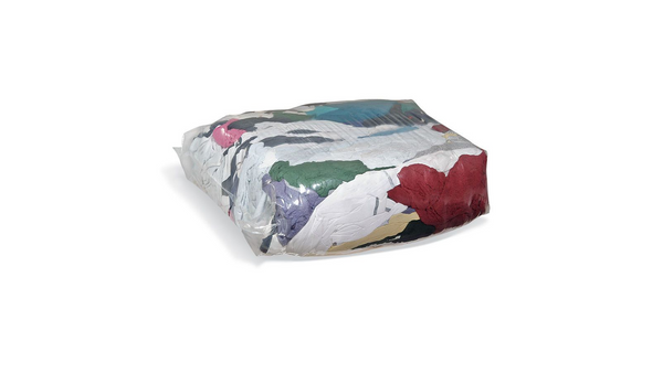 Coppermill Mixed Coloured Cleaning Rags 10kg Squeeze-Packs