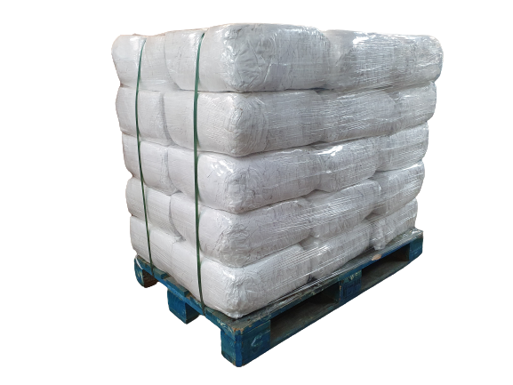 Premium White Sheeting Lint-Free Cotton Cleaning Rags Pallet 10kg 300kg