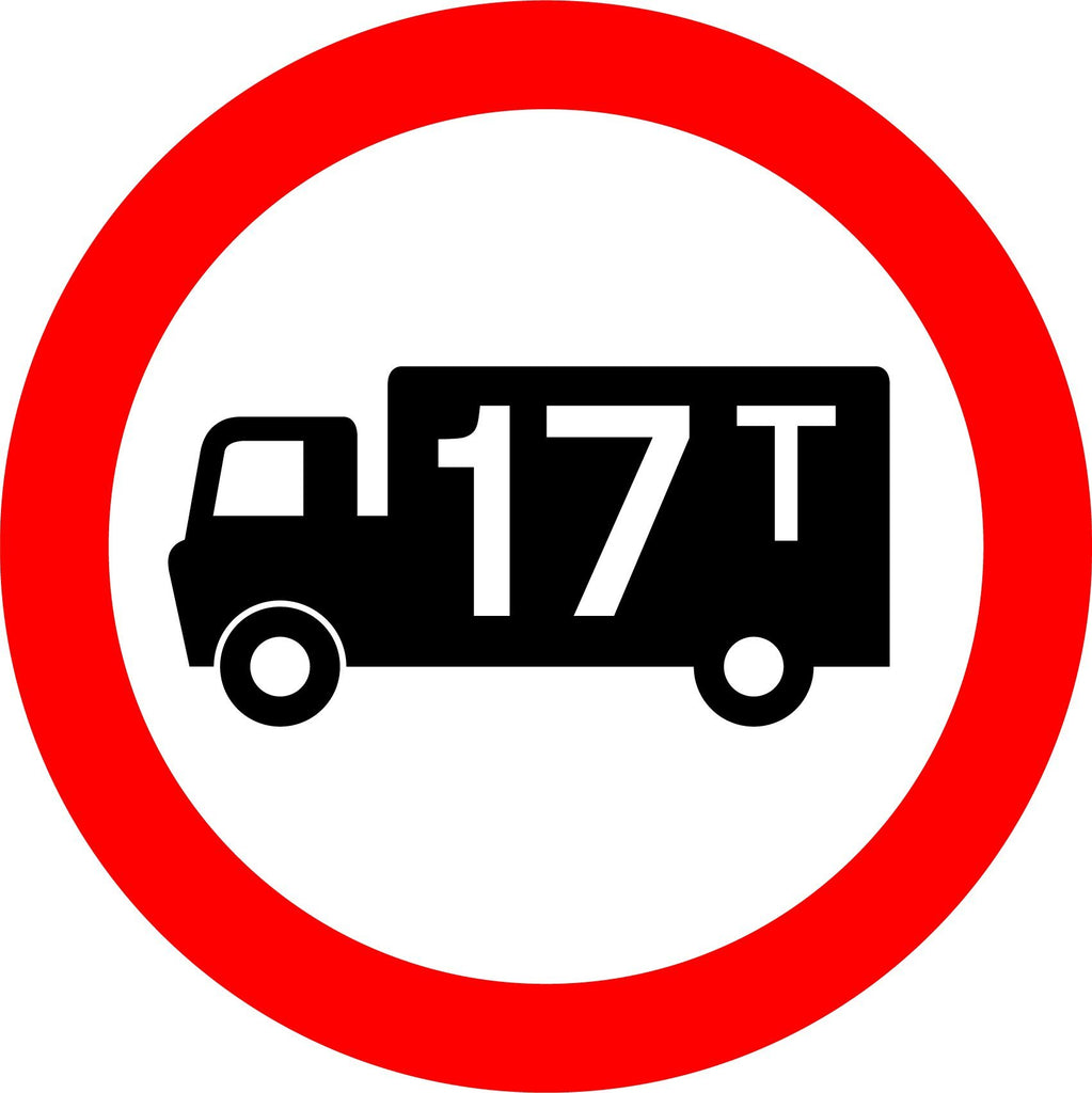 17T Goods Vehicle Limit Sign - Printed Agility