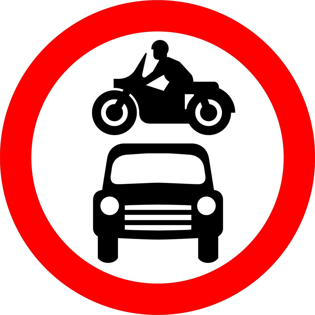 All Vehicles Prohibited Sign - Printed Agility