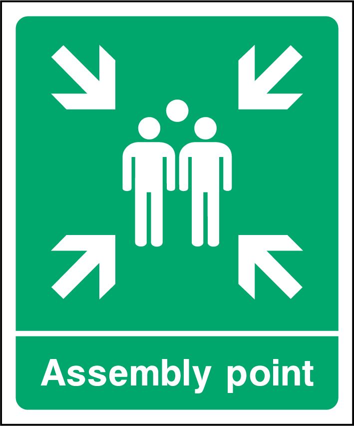 Assembly Point EEC Sign - Printed Agility