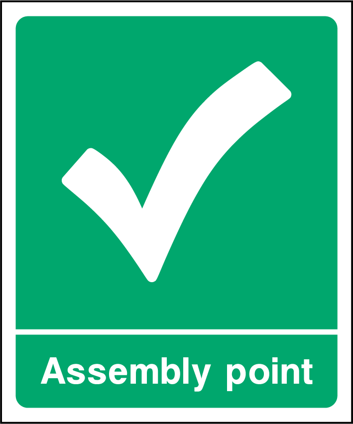 Assembly Point Sign - Printed Agility