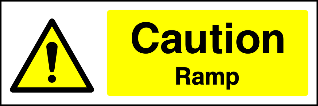 Caution Ramp Sign - Printed Agility