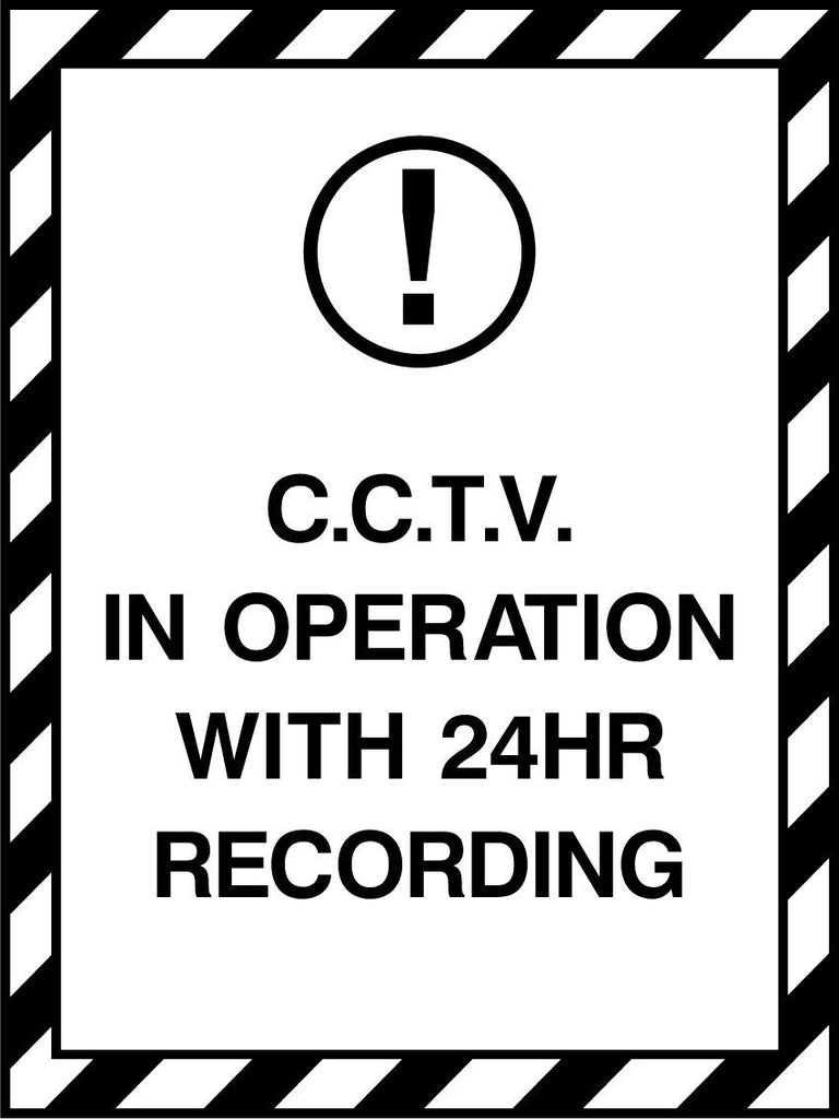 C.C.T.V. In Operation With 24Hr Recording Sign - Printed Agility