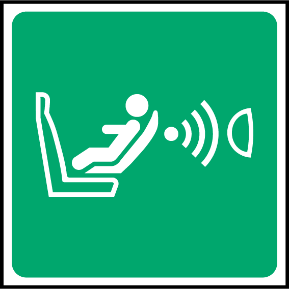 Child Seat Presence & Orientation Detection System (CPOD) Sign - Printed Agility