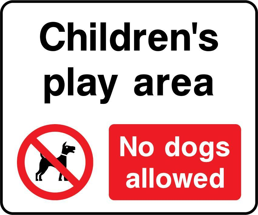 Children's Play Area, No Dogs Allowed Sign - Printed Agility
