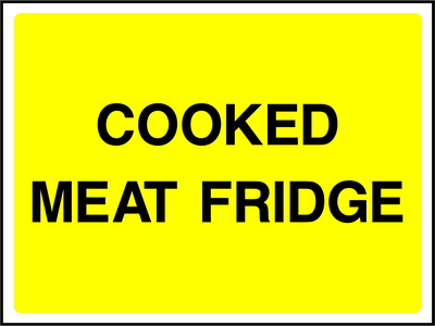 Cooked Meat Fridge Sign - Printed Agility