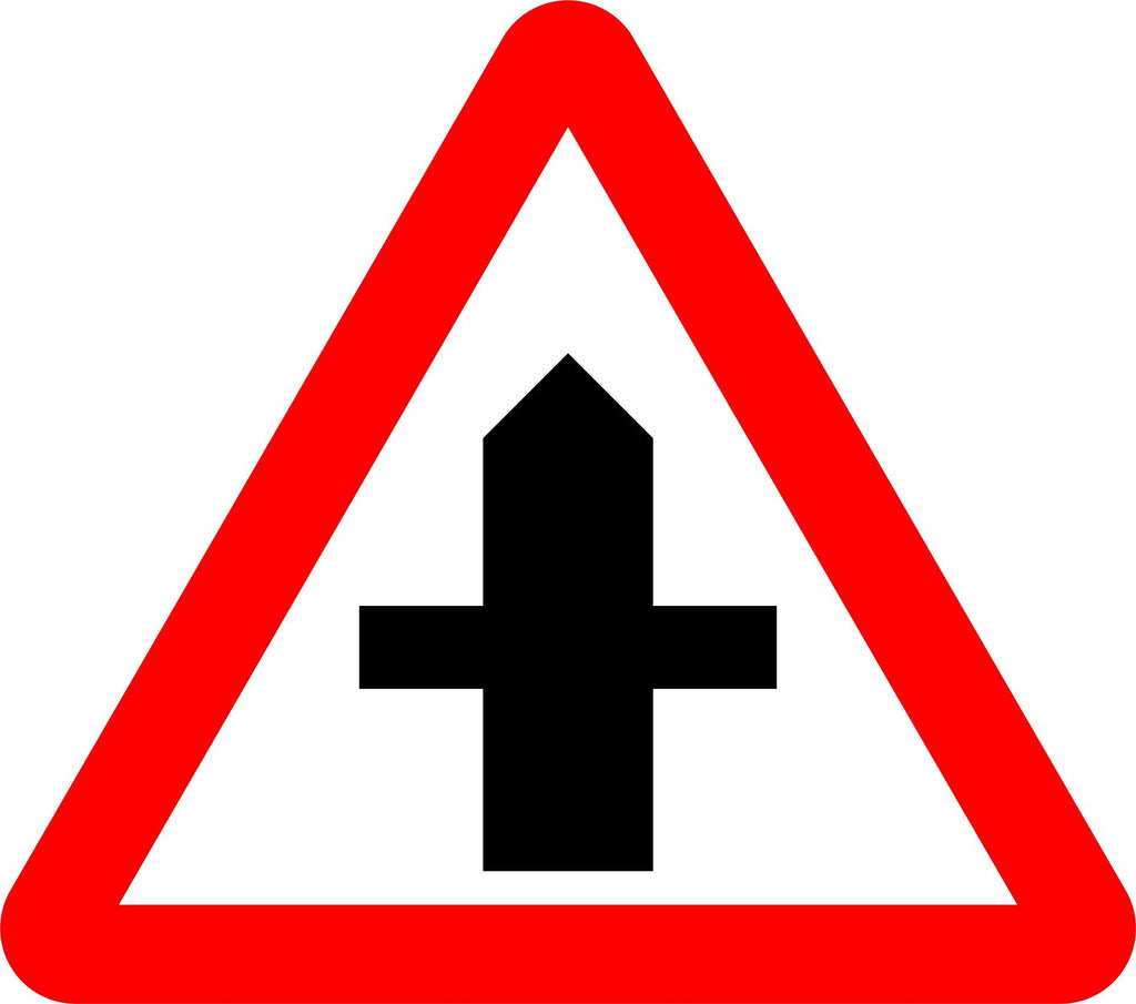 Crossroads Ahead Sign - Printed Agility