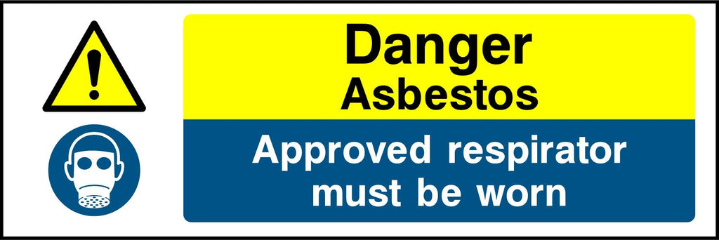 Danger Asbestos, Approved Respirator Must Be Worn Sign - Printed Agility