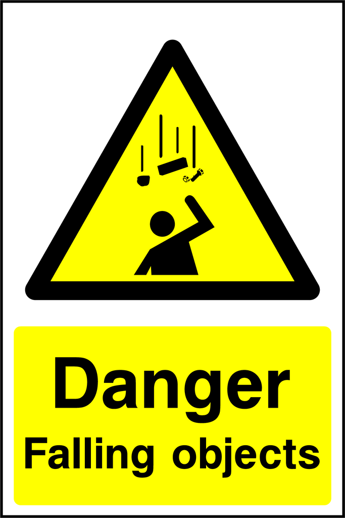 Danger Falling Objects Sign - Printed Agility