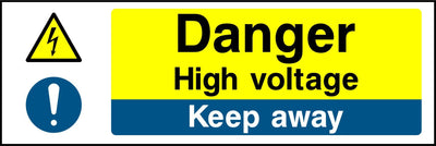 Danger High Voltage Keep Away Sign - Printed Agility