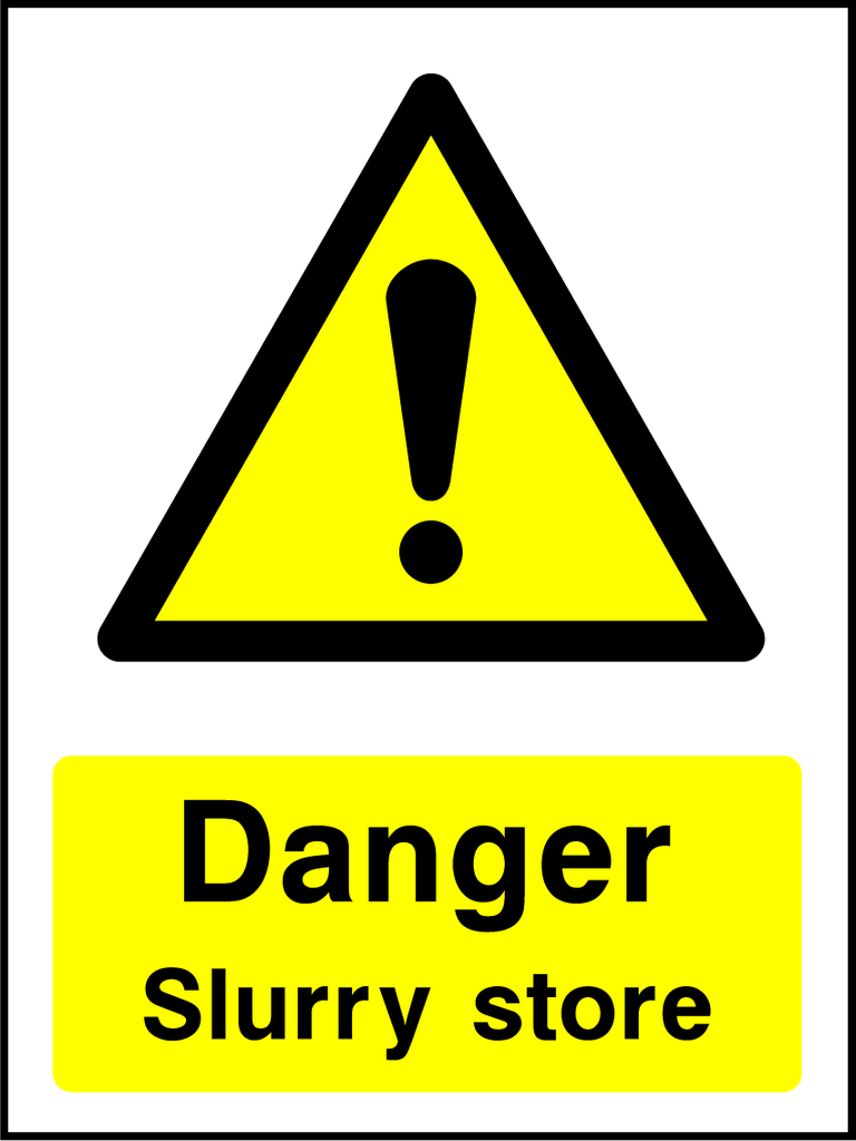 Danger Slurry Store Sign - Printed Agility