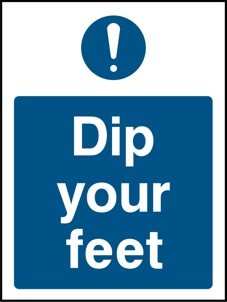 Dip Your Feet Sign - Printed Agility