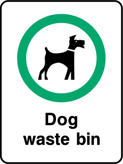 Dog Waste Bin Sign - Printed Agility