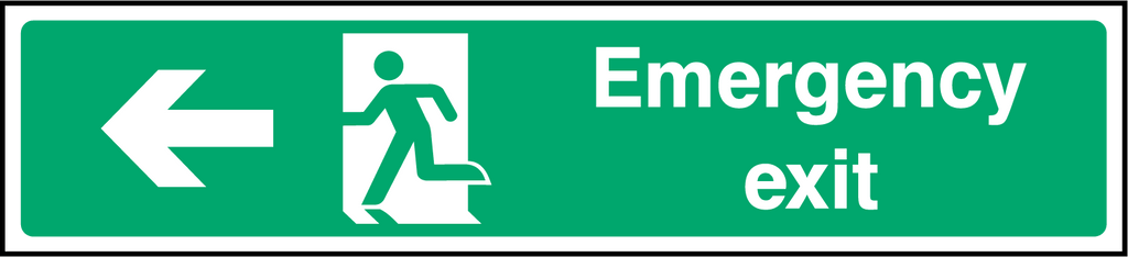 Emergency Exit (Left) Sign - Printed Agility