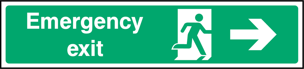 Emergency Exit (Right) Sign - Printed Agility