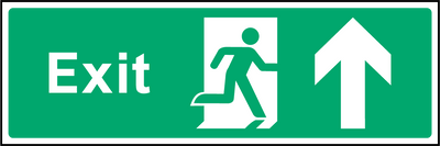 Exit (Up/Straight On) Sign - Printed Agility