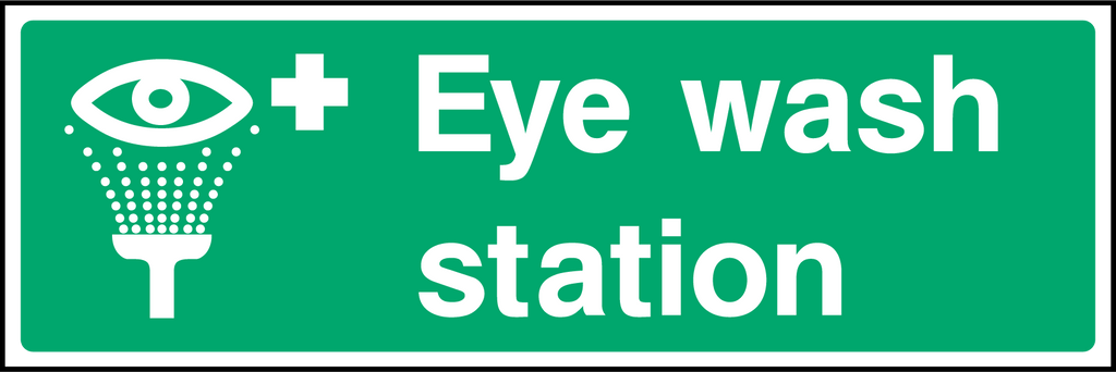 Eye Wash Station Sign - Printed Agility