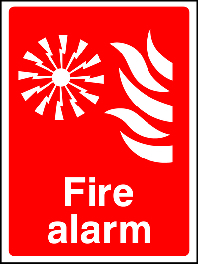 Fire Alarm Sign - Printed Agility