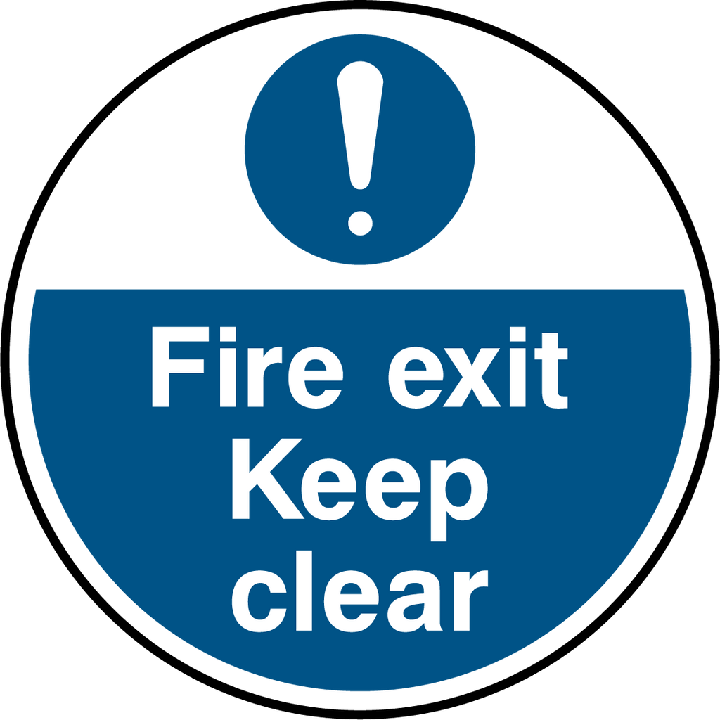 Fire Exit Keep Clear Floor Graphic - Printed Agility